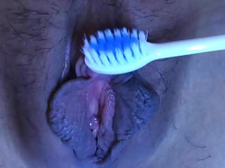 Close up with teeth brush 1...