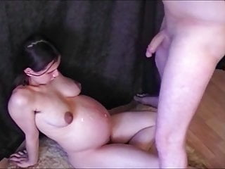 Wank and cum on pregnant Katja