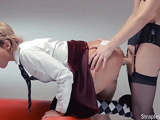Strapless dogg stockings and in dildo 2 pantyhose girls fuck