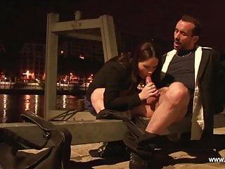 Rachelle takes anal near docks of the Seine in Paris