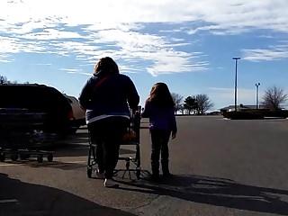 Big Girl MILF Walking to Car Candid Video