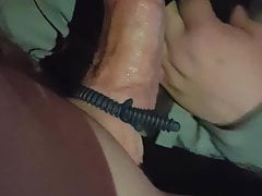 Masked girl suck big strong dick
