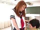 Asian schoolgirl fingered afterclass
