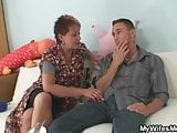 Old mom seduces her daughter's BF