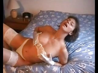 Sexy Milf Teasing In Stockings And Gloves