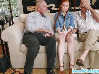 Ginger cock before doggystyle sex...