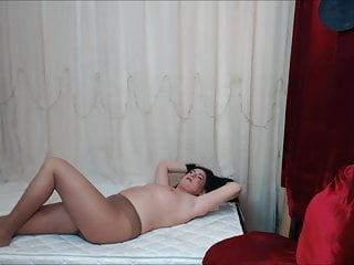 Nude Pantyhose Tits Pussy Rehearsal On The Mattress
