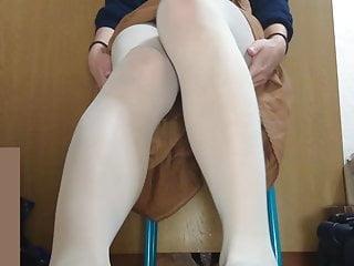 pantyhose lightgray tights japanese crossdresser