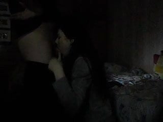 Deepthroat blowjob  in the dark