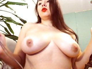 Fantastic Bitch Shows Off Her Bras And Sucks Black Dildo