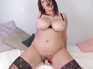 huge natural boobs babe riding dildoHD Sex Videos