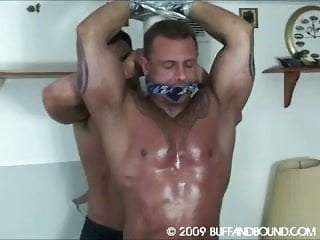 In the shower...