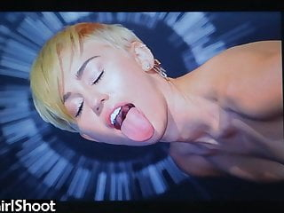 Miley Cyrus Cum Tribute #3