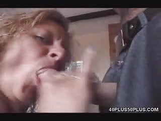 Pornstar MILF gives double blowjob
