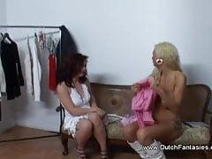 Lesbian Lusty Smash Gig From The Sloppy Netherlands