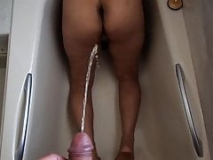 Thai Tammy asks for two guys piss on her
