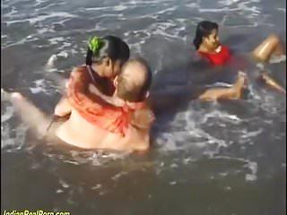 Indian sex orgy beach...
