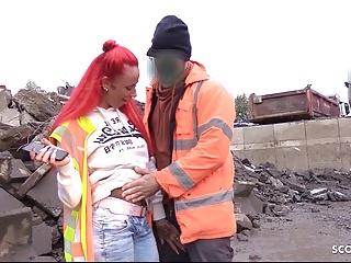 Abnormal Employee Seduce German Red head Horny teen Bareback Out of doors