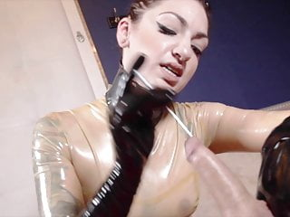 Bdsm Femdom Latex video: Mistress Sounding - Urethral Damage