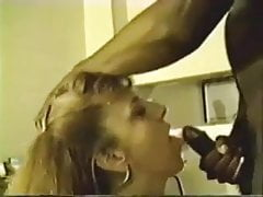 Husband encourages his wife to suck a bbc