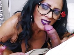 Sucking Two Fan Cocks Make squirt a lot
