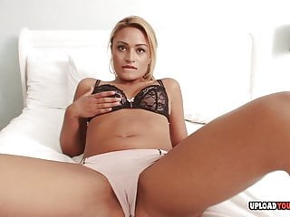 Pov Blonde Blowjob video: Mom's friend sucks me off while staying over