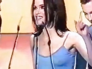 Singer Andrea corr tight top braless tits pokies!!