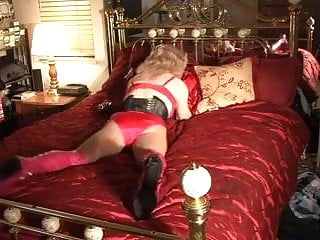 Tranny on bed...