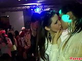 Amateur euros partying on the dancefloor