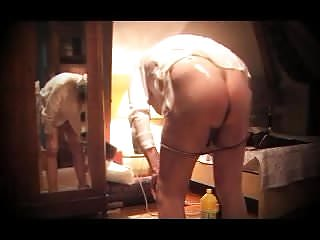 Oiled ladyboy sissy anal dildo fetish toy fisting...