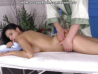 Man oiling massaging and fucking busty girl kira...