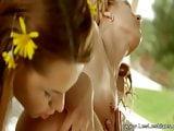 Natural Beauties Kissing Lesbians