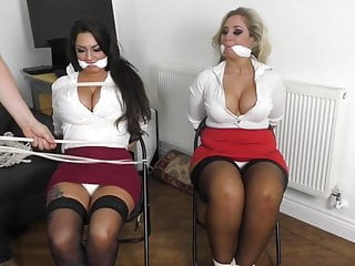 Two MILFs Bound and Gagged