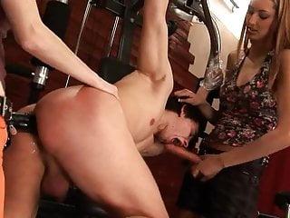 lesbický strapon dildo sex