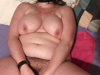 Bbw hairy slave playing...