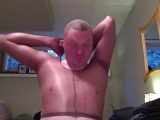 Pantyhose Encasement Fullbody Nylon Cum Layering