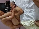 Two older chinese men fucking a grandpa