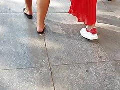 Jeune Femme Arabe Sexy Sandales noir
