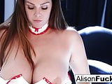 Sexy Nurse Alison spreads her pretty pussy for our enjoyment