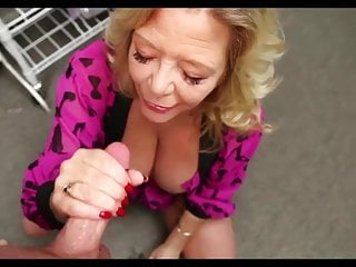 Hot granny giving handjob...