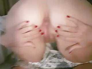 M spreads pussy and ass