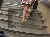 Massive Muscular Calves on Woman in Street