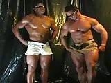 Two bodybuilders cumming