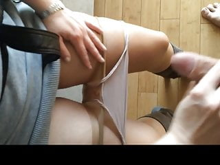 This Bull fucked me earlier than work with cumshot on my panties