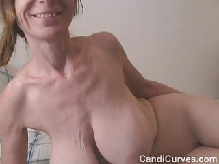 Saggy boobed gilf with pantyhose in bed...