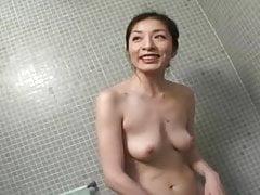 Asian Japanese Great MILF Gives Blow Job In Shower Voyeur