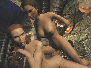 3d medieval knight girl hardcore fantasy futa...