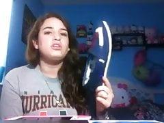 Brunette Teenage Stinkin' Own Footwear & Feet