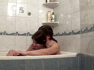 Shane makes Melody cum within the bathtub