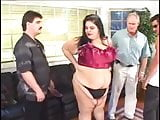 SSBBW has a 4 Cock Orgy